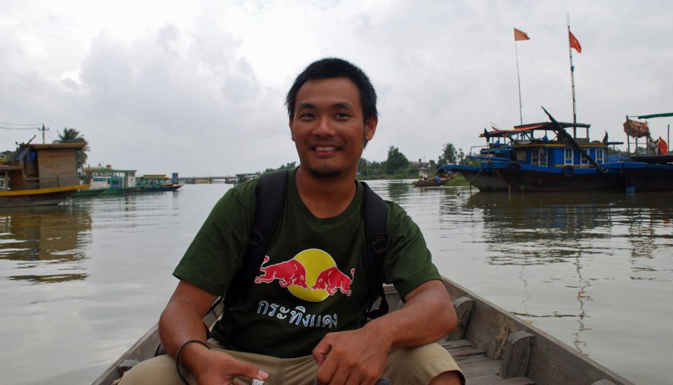 backpacker vietnam rio mekong