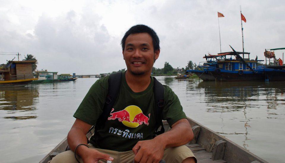 backpacker vietnam rio mekong