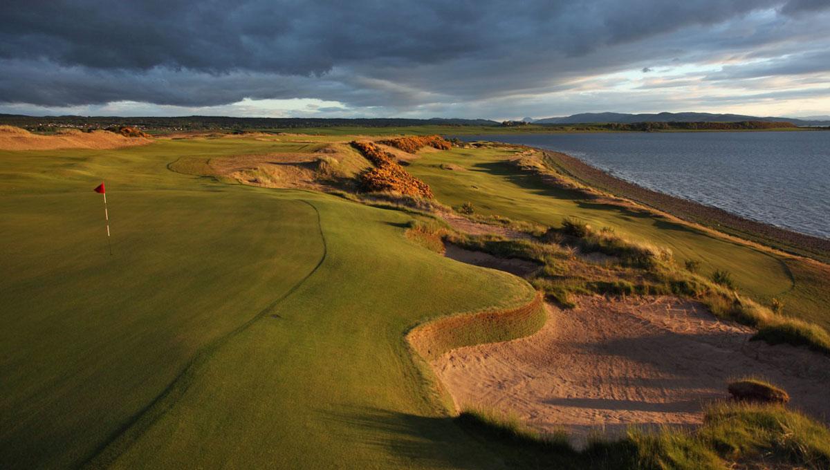 Campo de golf na Escócia