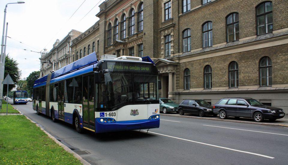 Autocarro em Riga, Letónia