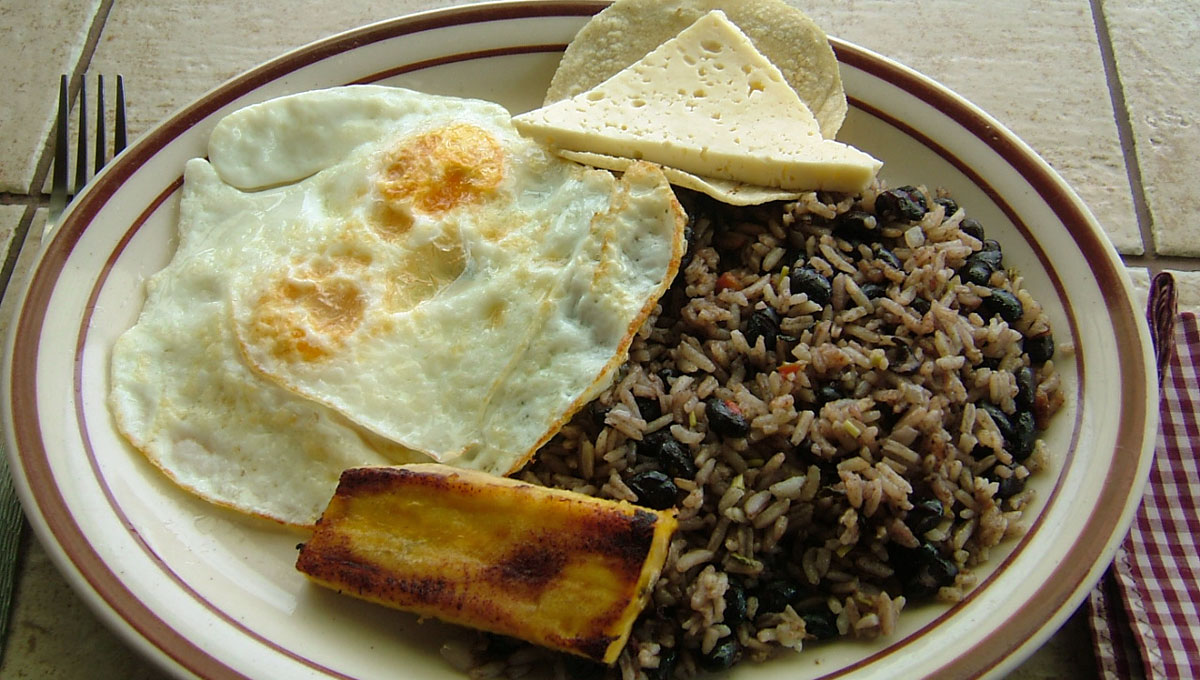 Gallo pinto na Costa Rica