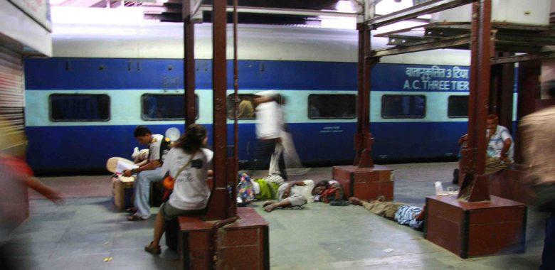 Estação de combios na Índia