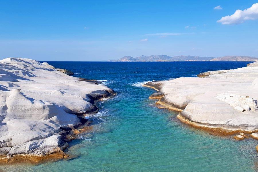 Praia de Sarakiniko, Grécia