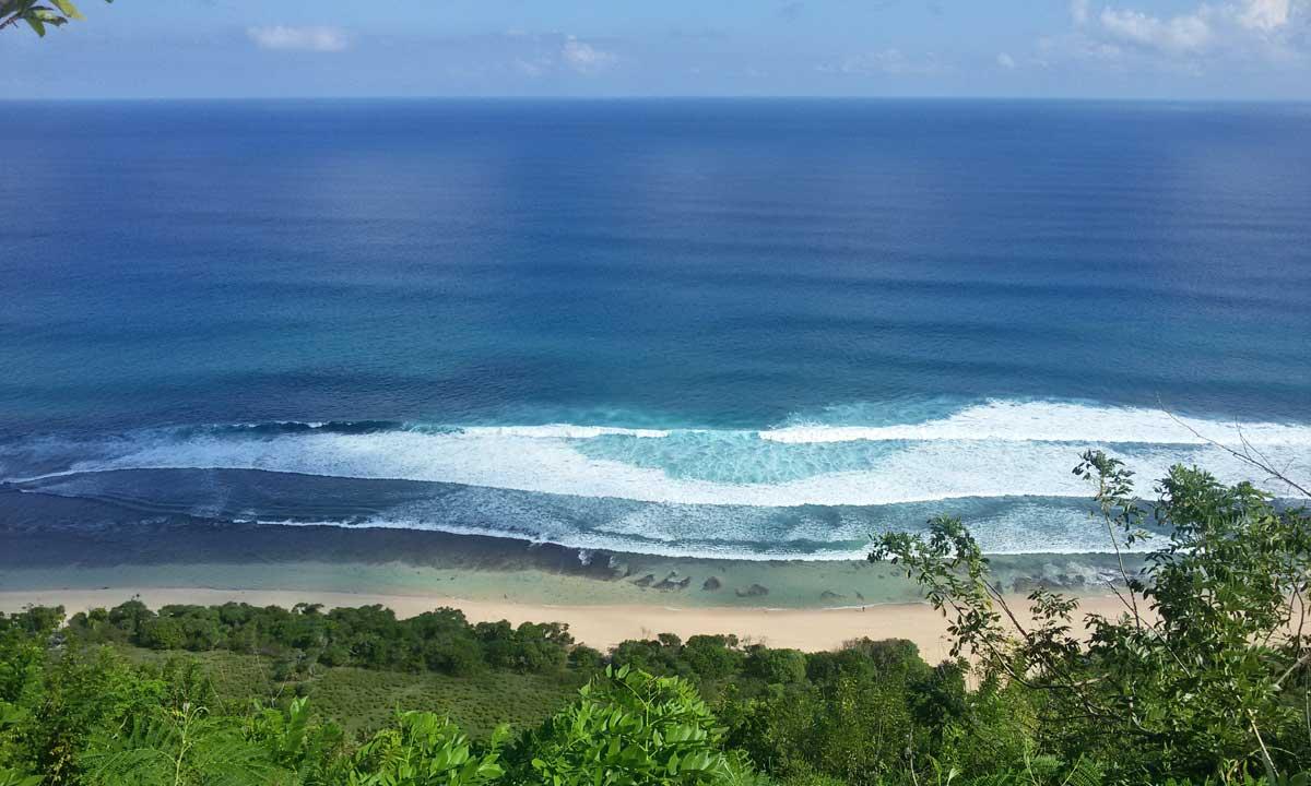Praia secreta em Bali