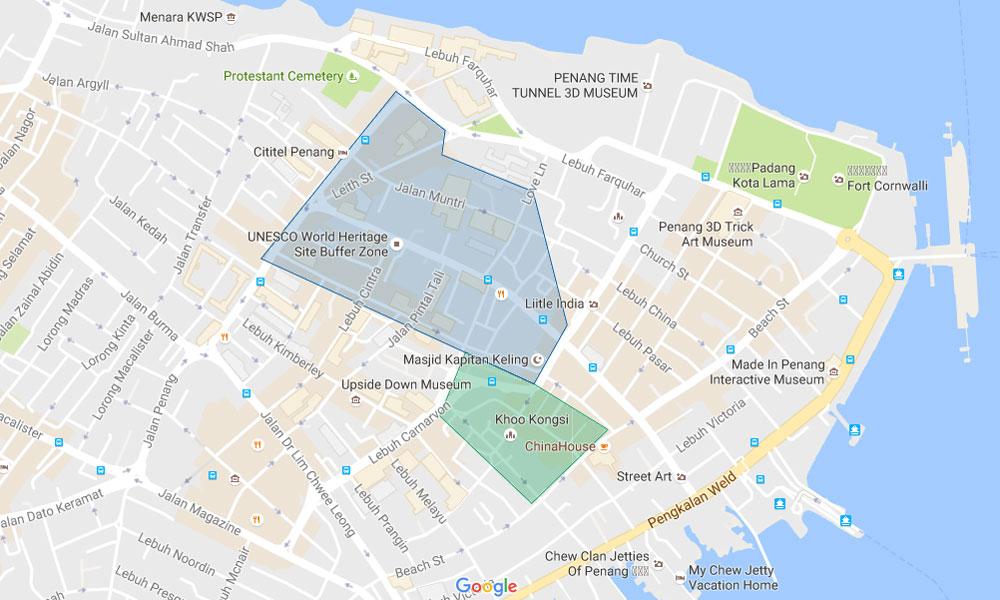 george-town-alojamento-mapa