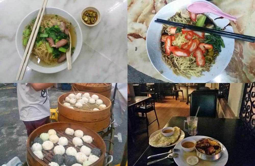 comida em george town, malásia