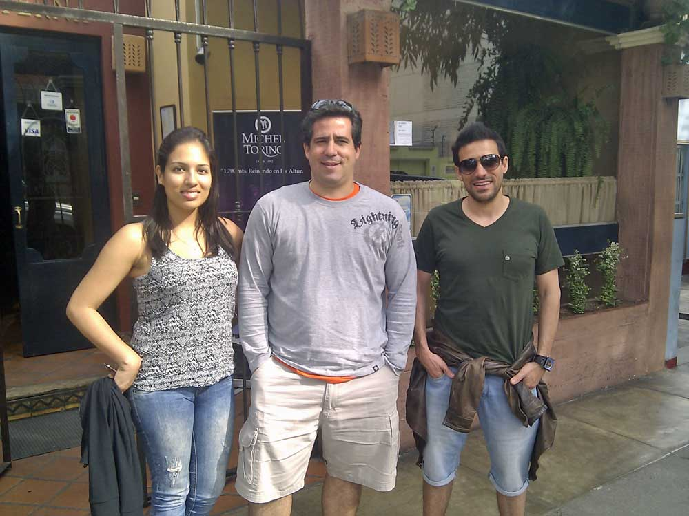 amigos em Lima, Peru