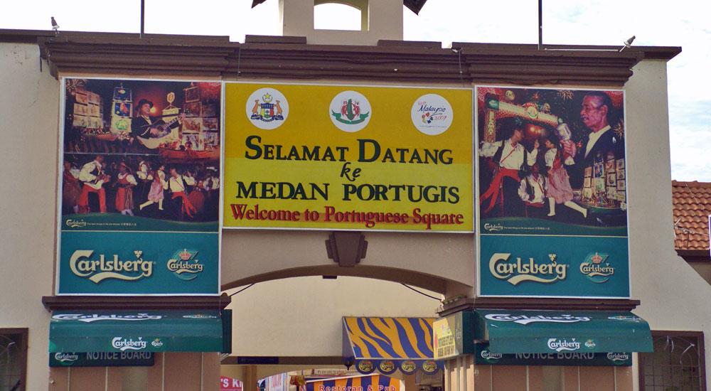 Bairro português em Malaca