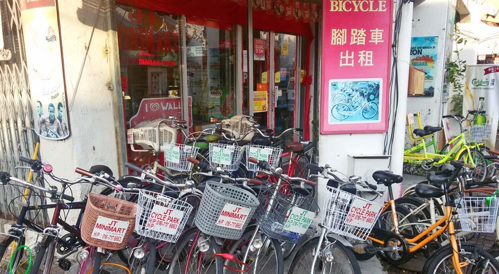 Alugar bicicleta em Malaca