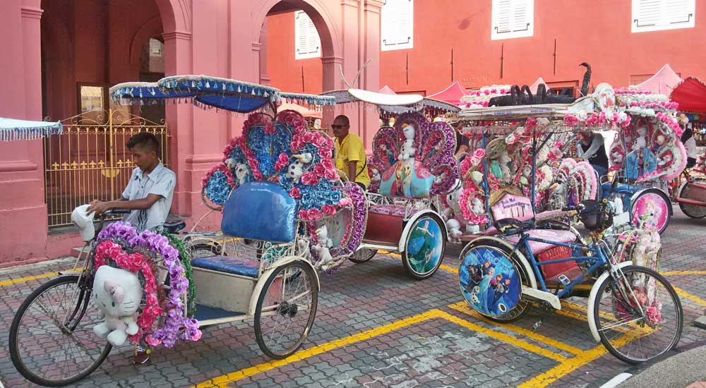 Trishaws decorados, Malaca