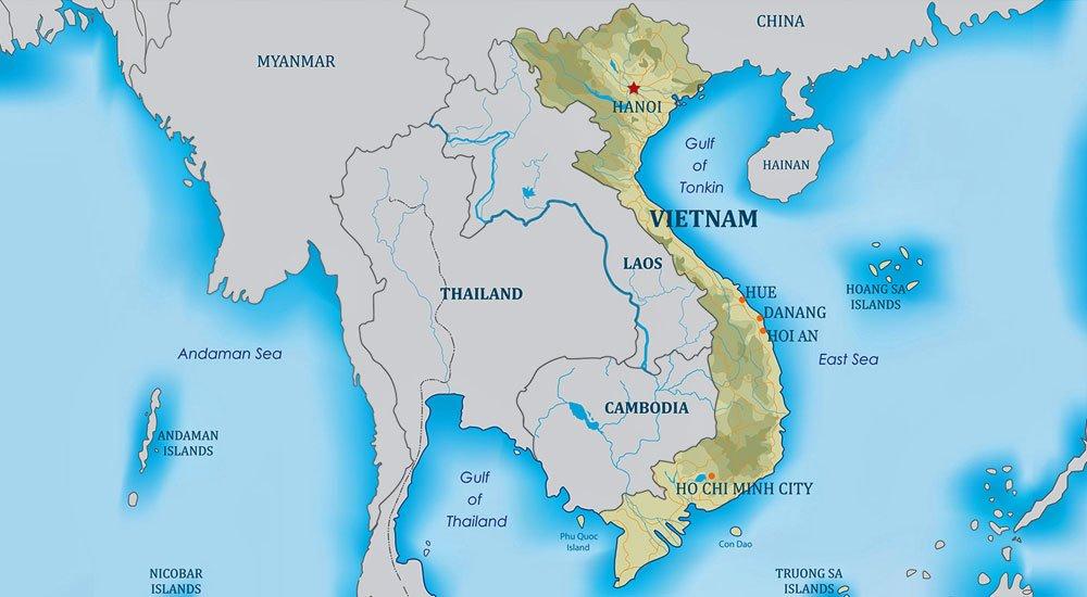 Mapa do Vietnam