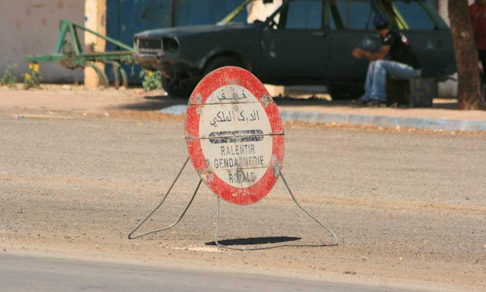 Sinal Stop em Marocos