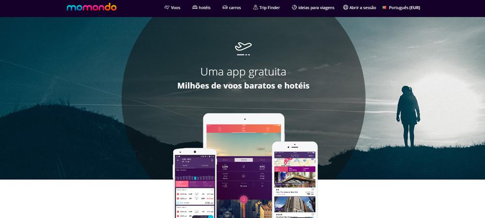 Apps de viagem Momondo