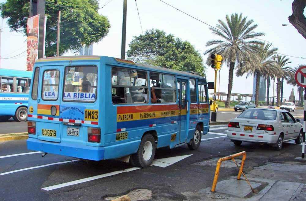 lima peru micro bus