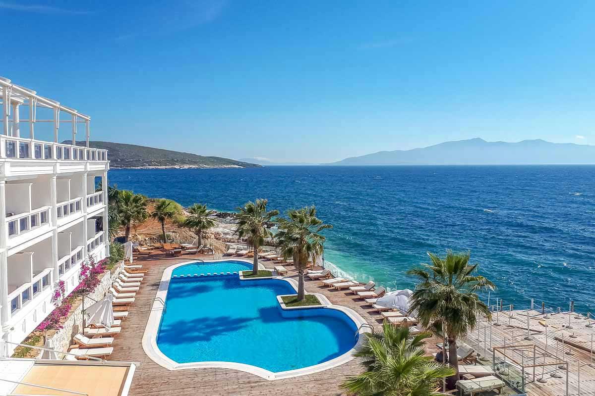 Hotel de praia em Saranda, Albania