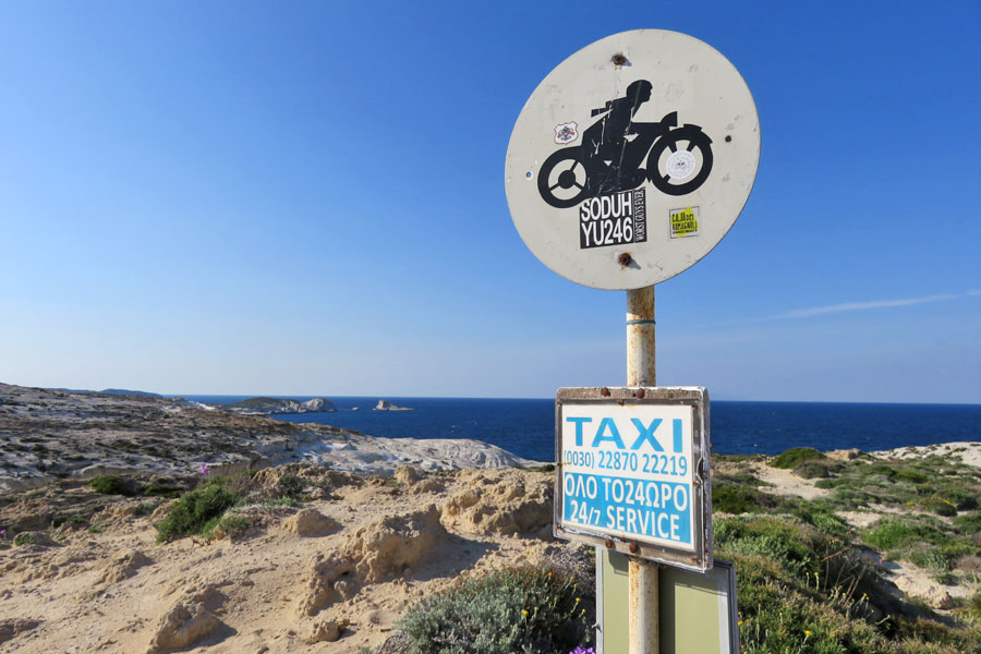 Taxis praias Milos